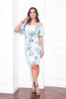 Летнее платье с открытыми плечами Angela Ricci со скидкой