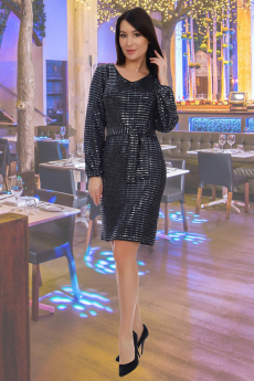 Платье с синими пайетками Натали